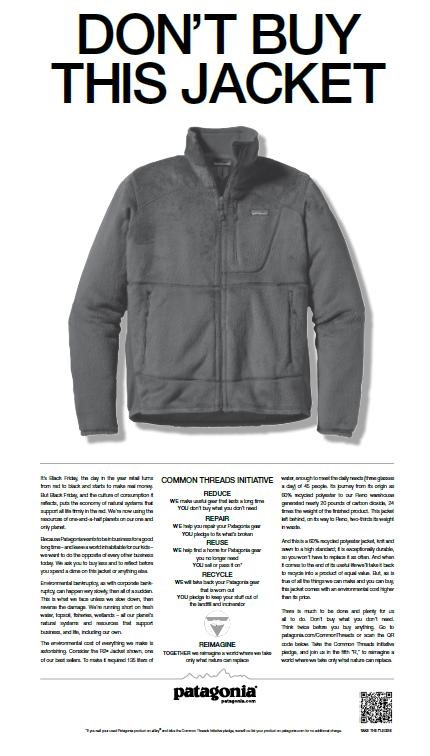 Don't buy this jacket ad.
