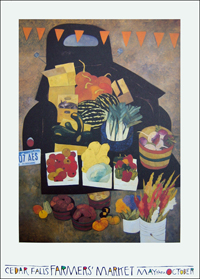 Farmers Market Poster by Gary Kelley