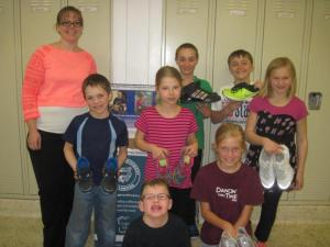 Students donate shoes