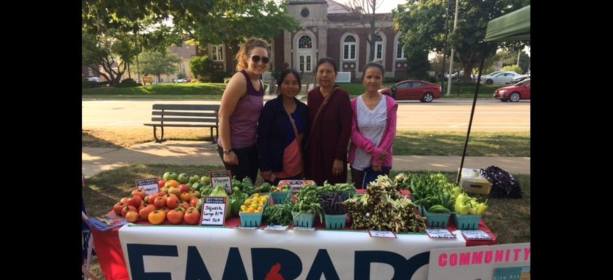 Community Producers selling at Friday Market on the Park