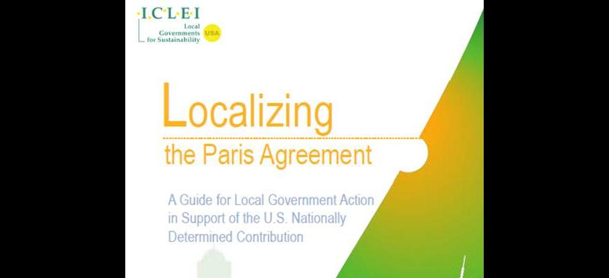 ICLEI Localizing the Paris Agreement guide cover